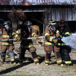 fireman on hose training
